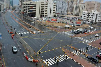 Maintenance work at King Faisal Road